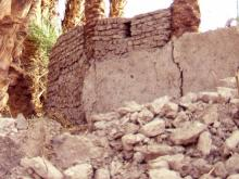 demolitions of old houses and walls beside Seti 1998 2